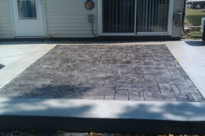 ashlar slate stamped concrete inlay